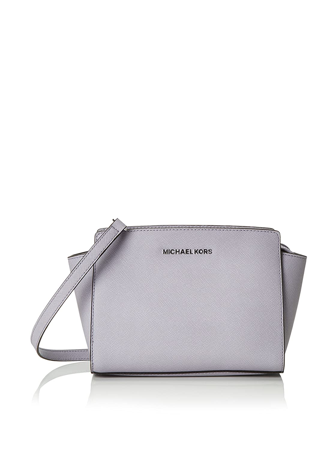 9affa16bfbac Amazon.com  MICHAEL Michael Kors Selma Medium Saffiano Leather Messenger  (Lilac)  Shoes