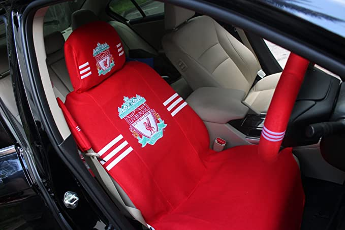 LIVERPOOL FC CAR ACCESSORY CAR SEAT COVER PLUS HEAD REST COVER SET NEW OFFICIAL