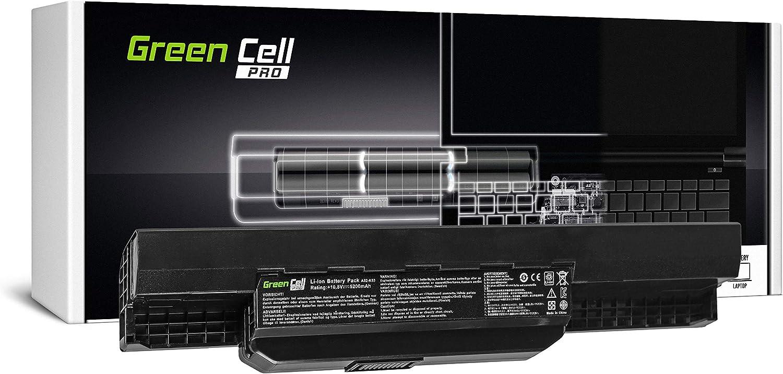 Green Cell PRO Serie A32-K53 A41-K53 Batería para ASUS K53 K53E K53S K53SJ K53SV K53U X53 X53S X53SV X53U X54 X54C X54F X54H X54L Ordenador (Las Celdas Originales Samsung SDI, 6 Celdas, 5200mAh,)