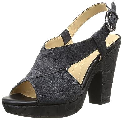 Geox Sandales Noir A Eu D 35 Nurit black Femme OOwqa4cR