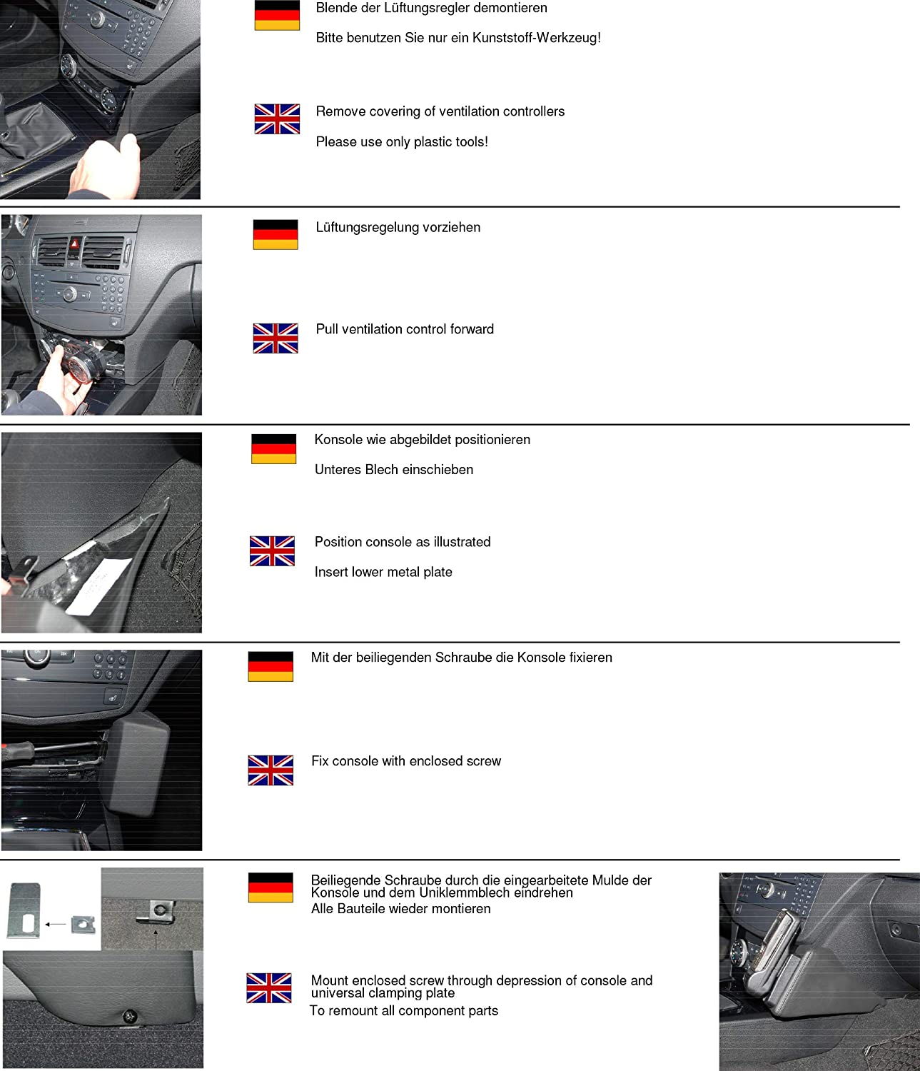 B001T1X3YY Kuda 091775 Leather Mount Black Compatible with Mercedes C W204 (2008-2011) 81Olo8b4zGL