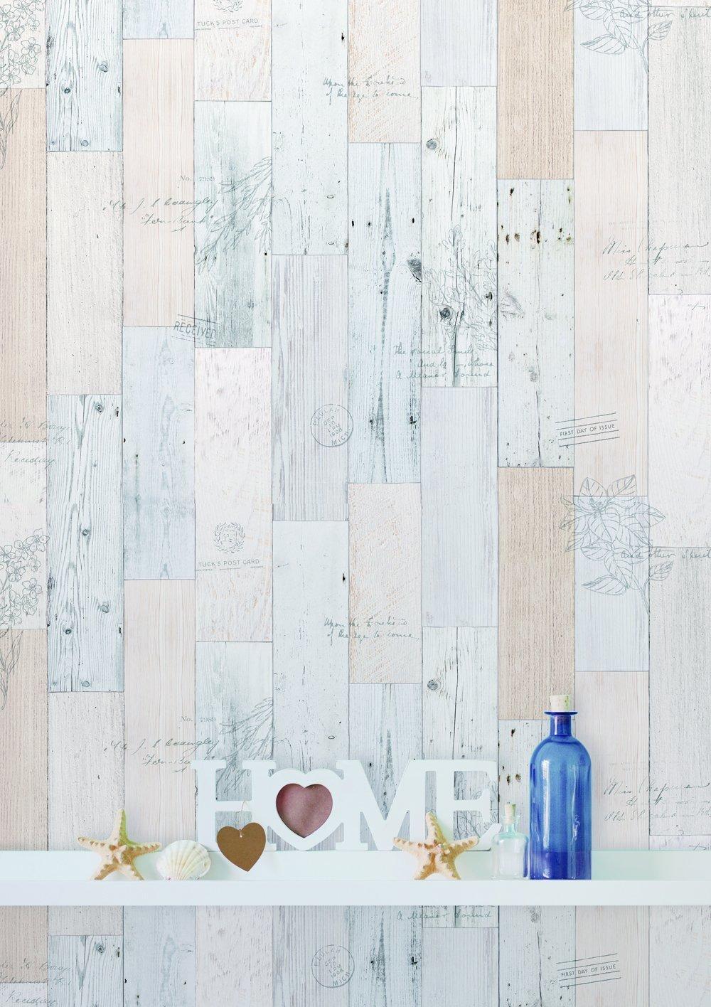 50cm x 15m Papel de pared con adhesivo autoadhesivo para paneles de madera 0.15 mm Estante de PVC impermeable extra/íble Brown vintage Papel tapiz de 19.6x 590