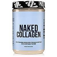 Naked Collagen - Collagen Peptides Protein Powder, 60 Servings Pasture-Raised, Grass-Fed Hydrolyzed Collagen Supplement   Paleo Friendly, Non-GMO, Keto, Gluten Free   Unflavored 20oz