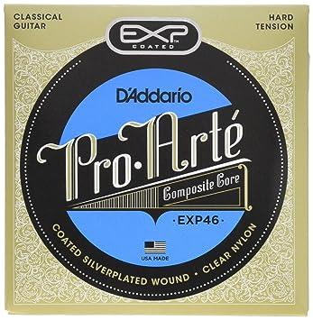 DAddario EXP46 - Juego de cuerdas para guitarra clásica de nylon con entorchado de