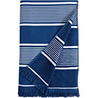 Beach Towel Oversized, 100% Cotton Soft Terry Cloth Back Pool Towels, Quick Dry Peshtemal Bath Towels, Fouta Towels for…
