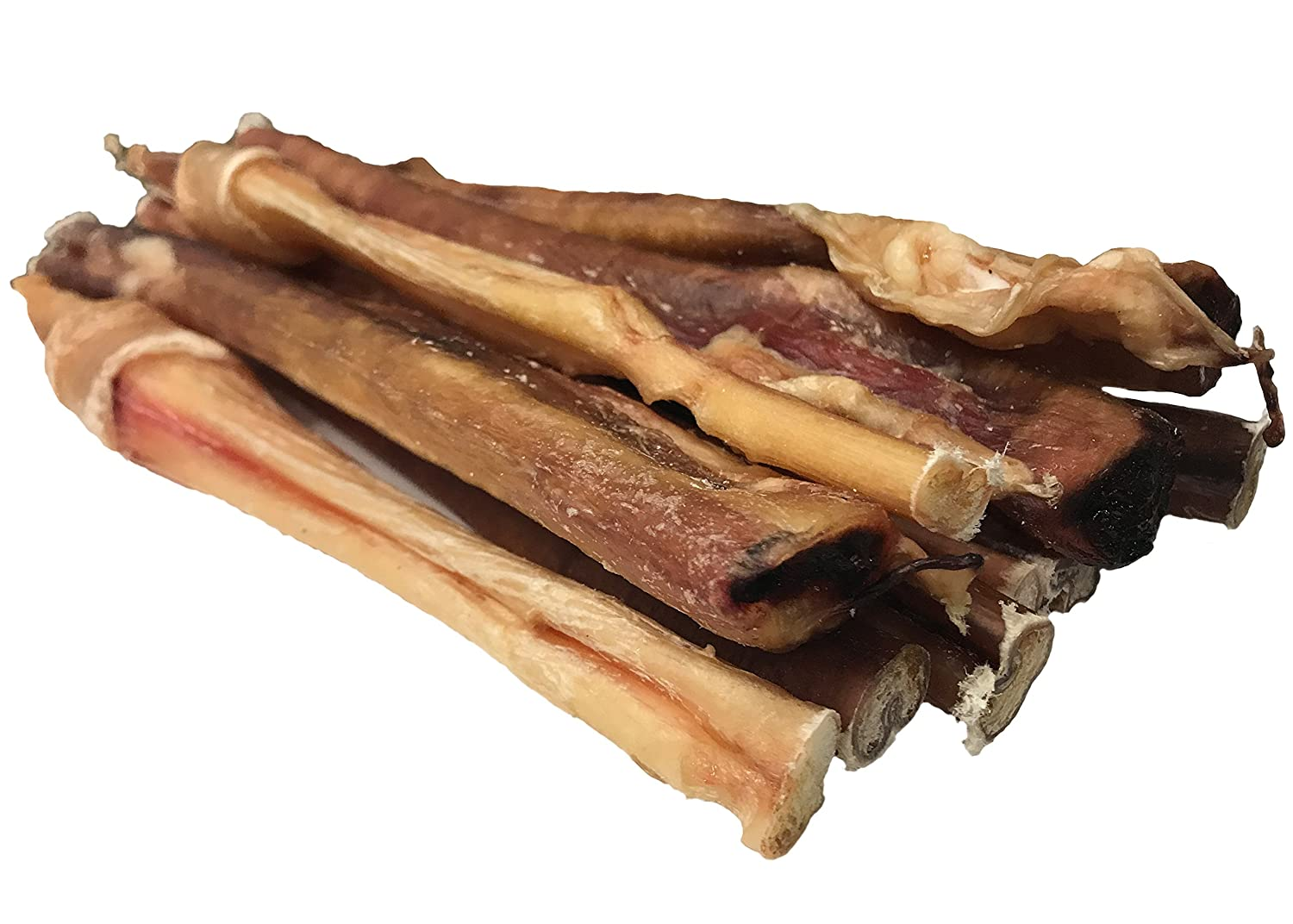 11-12 Inches Loyalty Dog Treats, Natural Scent Bully Sticks for Dogs, All-Natural and Healthy, Dehydrated Free Range, Grass Fed Beef, Free of Any Hormones or Additives, 11-12 Inches; 10 Pack
