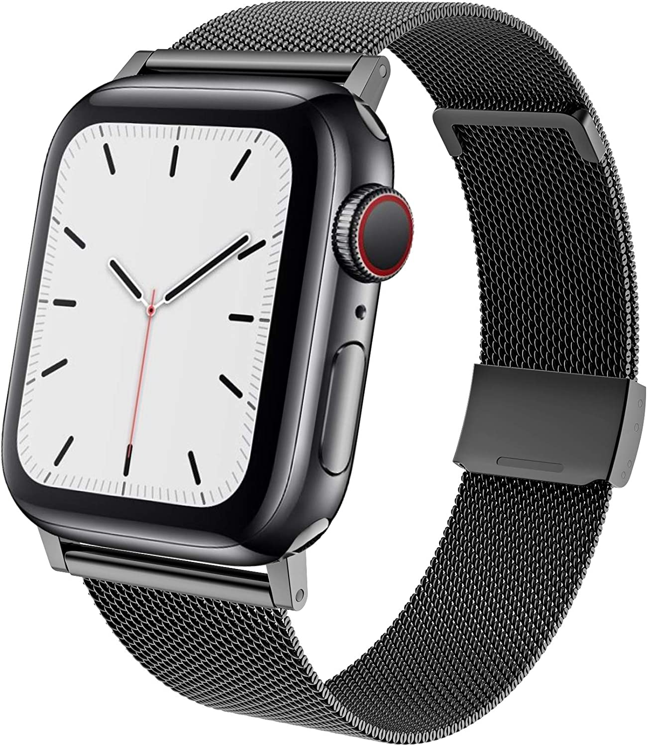 TACA-H Compatible with Apple Watch Bands 44mm 42mm,Stainless Steel Replacement iWatch Bands for Series 6/SE/5/4/3/2/1