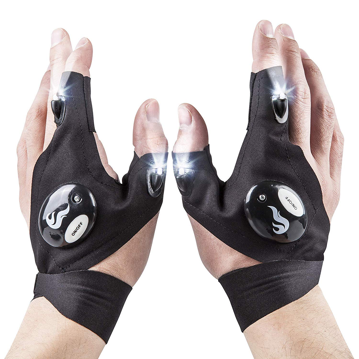 Flashlight Gloves - Tactical LED Light Gloves for Mechanics, Computer & Car Repair, Outdoor | Waterproof, Lightweight & Flexible | Perfect for Camping, Night Running, Fishing, Cycling | Handyman Gifts by DANGSHAN