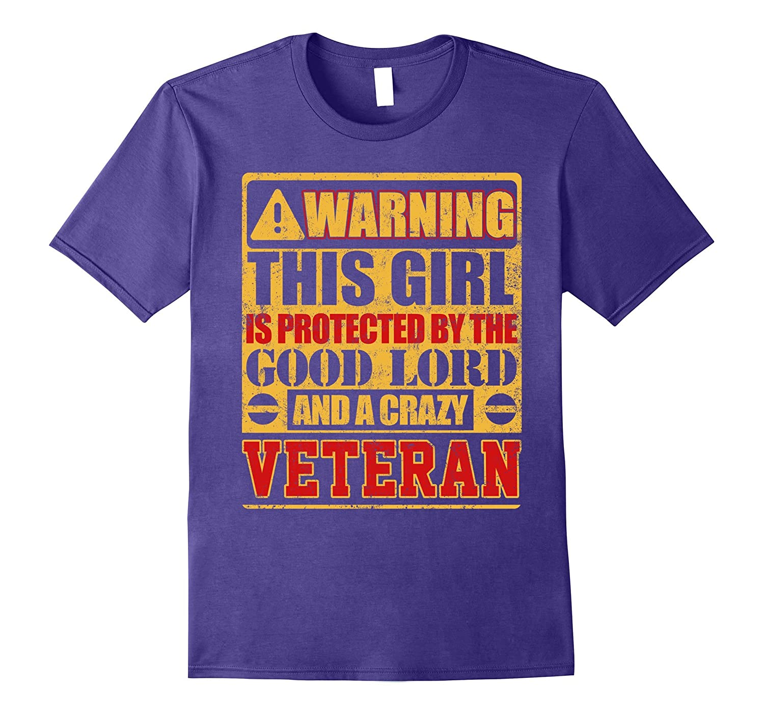 Warning This Girl Is Protected By Veteran T-shirt-PL