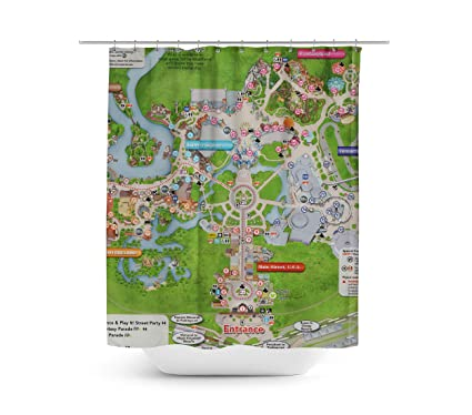 Queen Of Cases Magic Kingdom Map Shower Curtain