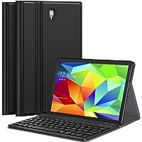 Earto Tastatur Hülle für Samsung Galaxy Tab A 10.5 T590/T595, Hochwertiges PU-Leder Standfunktion Hülle mit Abnehmbarer Kabelloser Bluetooth Tastatur, [QWERTZ Deutsches] MEHRWEG