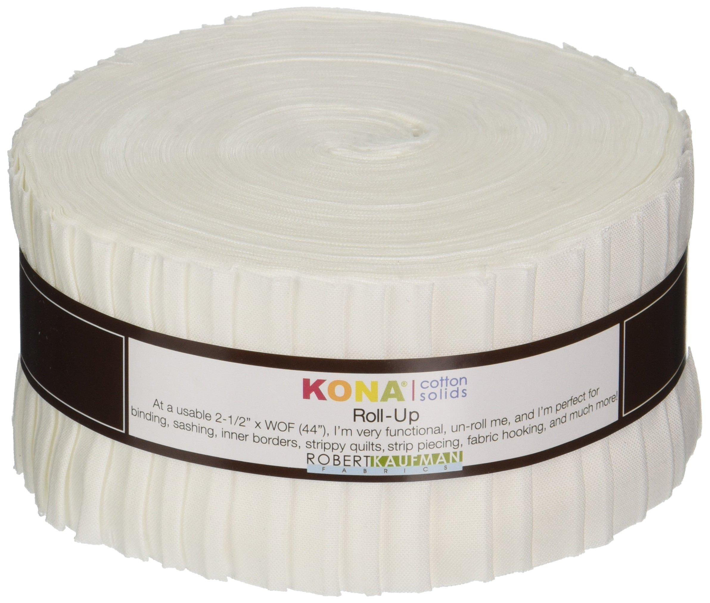 Robert Kaufman RU-190-40 Strips, 2.5-inch, White by Robert Kaufman (Image #1)