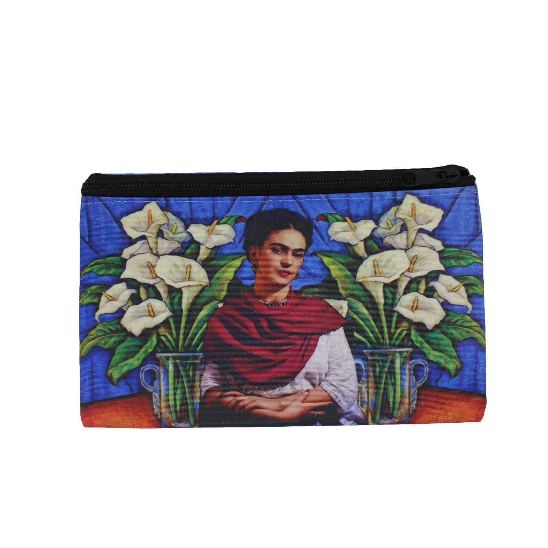 Mitienda Etui Frida Kahlo mit Rotem Schal, Geldbörse, Brieftasche, Geldbeutel, Portemonnaie Geldbörse
