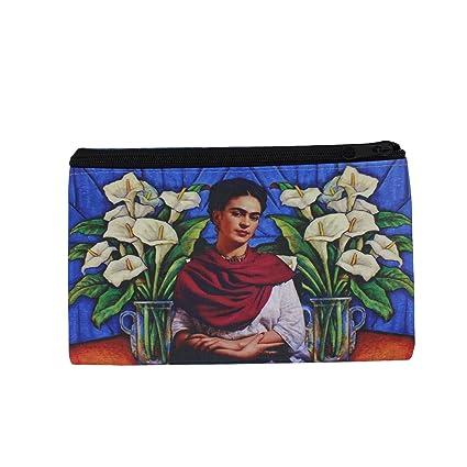 Cartera con diseño de Frida Kahlo. Monedero. Billetera