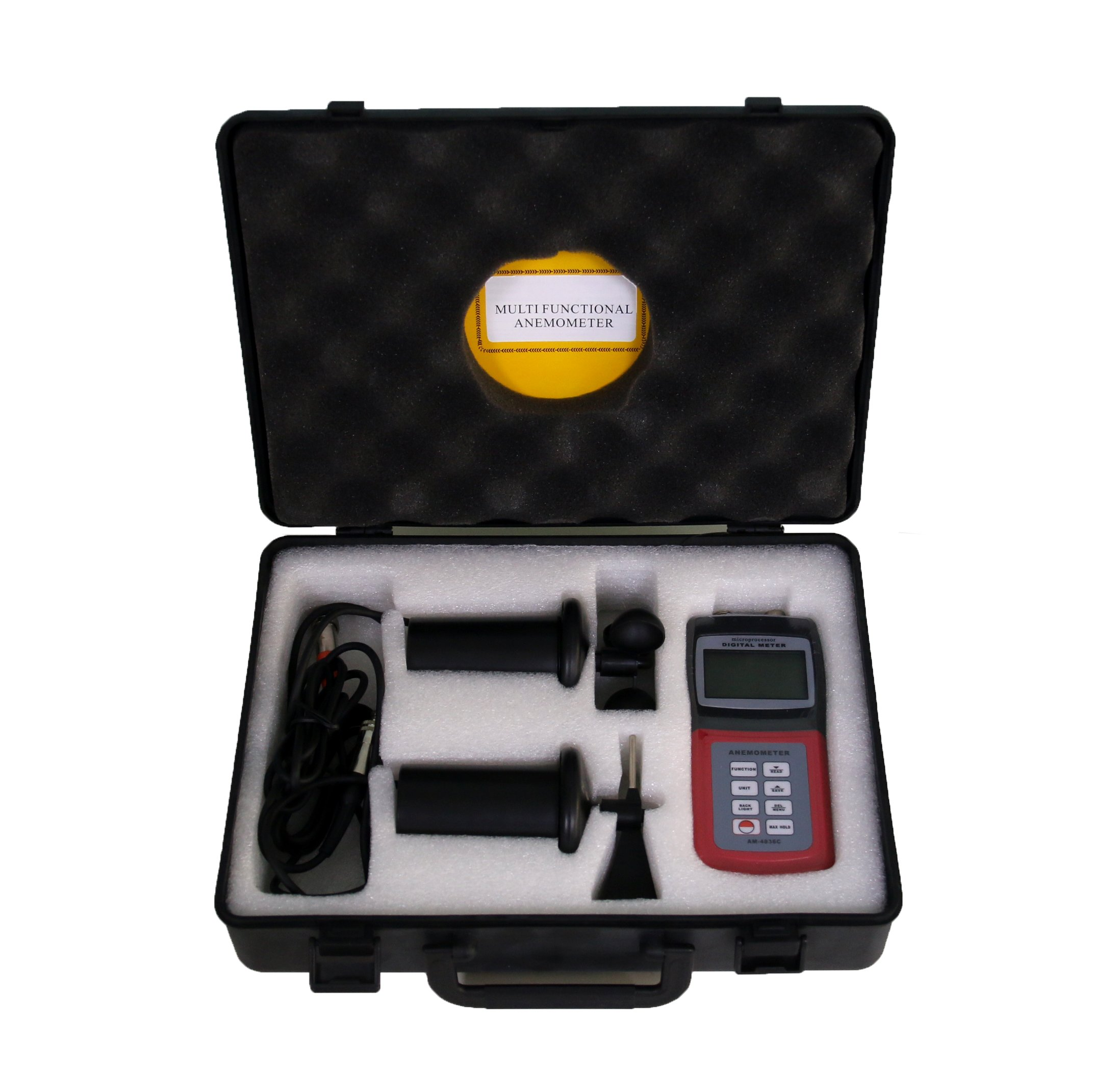 BYQTEC AM-4836C Digital Multifunction Anemometer Wind Speed Meter for Measuring Air Velocity Flow, Temperature, Direction and Wind Speed by BYQTEC (Image #1)