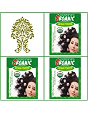 3 Boxes. USDA Certified Organic Henna. Golden Brown Hair Color. 100g Ea.