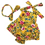 PrinceSasa Baby Girl's Romper Summer Clothes,Yellow