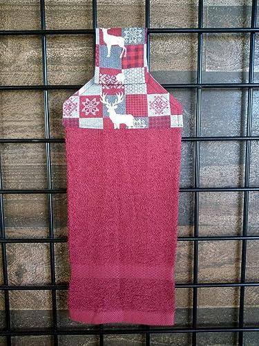 Amazon com: Cranberry Woodland Winter Hanging Dish Towel