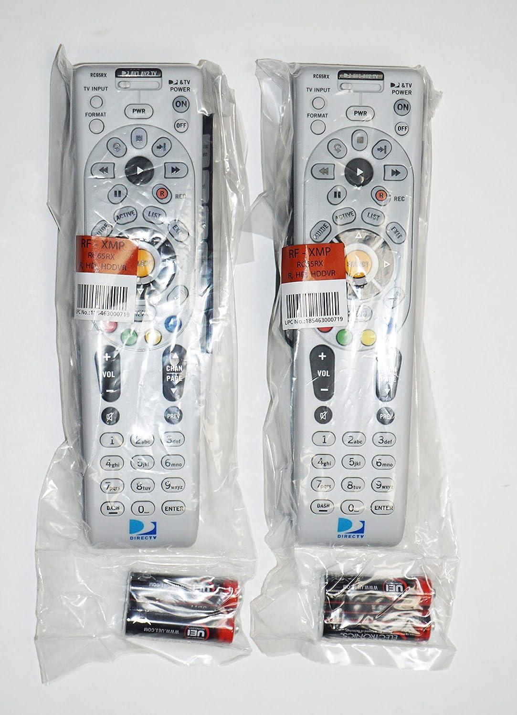 "4 DIRECTV RC66RX UNIVERSAL REMOTE HD//DVR 24 IR//RF 2AA BATTERIES /""REPLACE RC65RX"