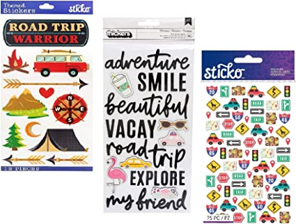 Caravan planner Holiday sticker diary //calendar stickers 4 for price of 3
