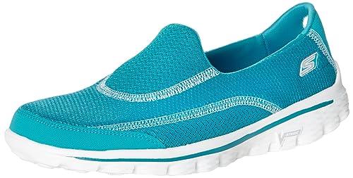 Skechers Gowalk 2 Spark, Women's Running Shoes, Blue (Turquoise), 3 UK