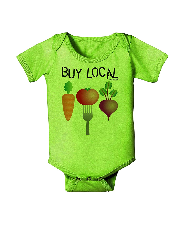 TooLoud Buy Local Vegetables Design Baby Romper Bodysuit