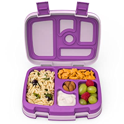 Bentgo Kids Childrens Lunch Box - Bento-Styled Lunch Solution Offers Durable, Leak-Proof, On-the-Go Meal and Snack Packing (Purple): Kitchen & Dining