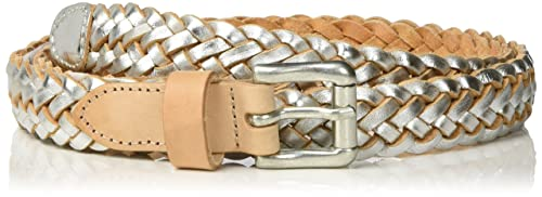 PIECES Pclille Braided Leather Jeans Belt, Cinturón para Mujer