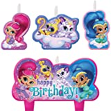 Amscan Shimmer and Shine Happy Birthday Candle Sets (4 ct)