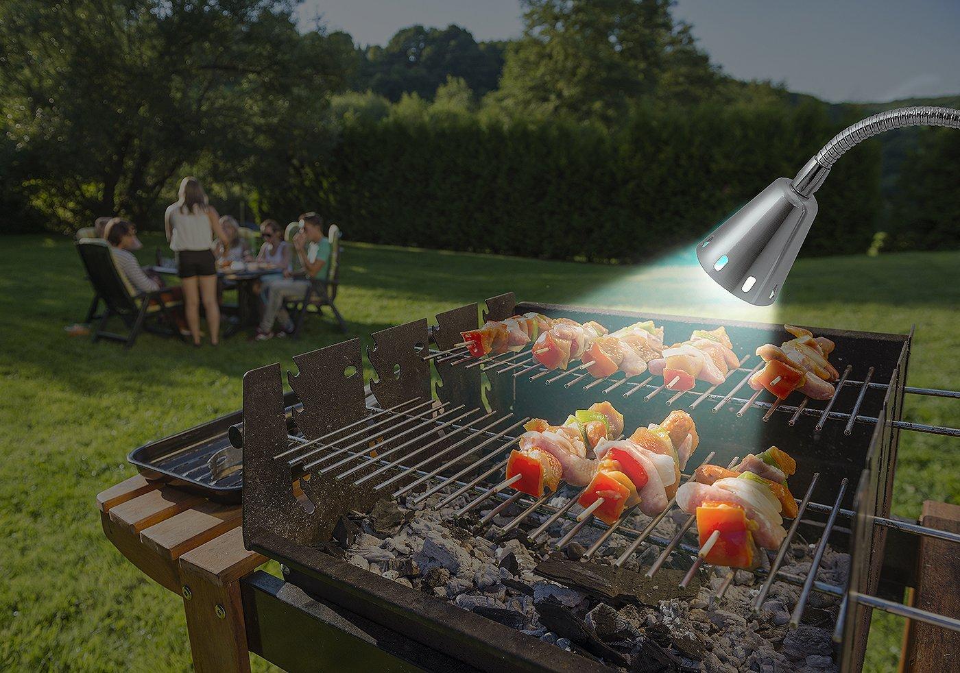 new led concepts bbq grill light 12 super bright outdoor. Black Bedroom Furniture Sets. Home Design Ideas