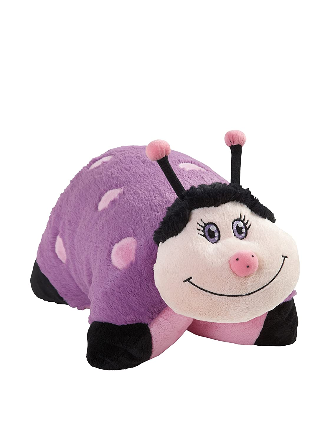 amazon com my pillow pet lady bug large pink and purple toys