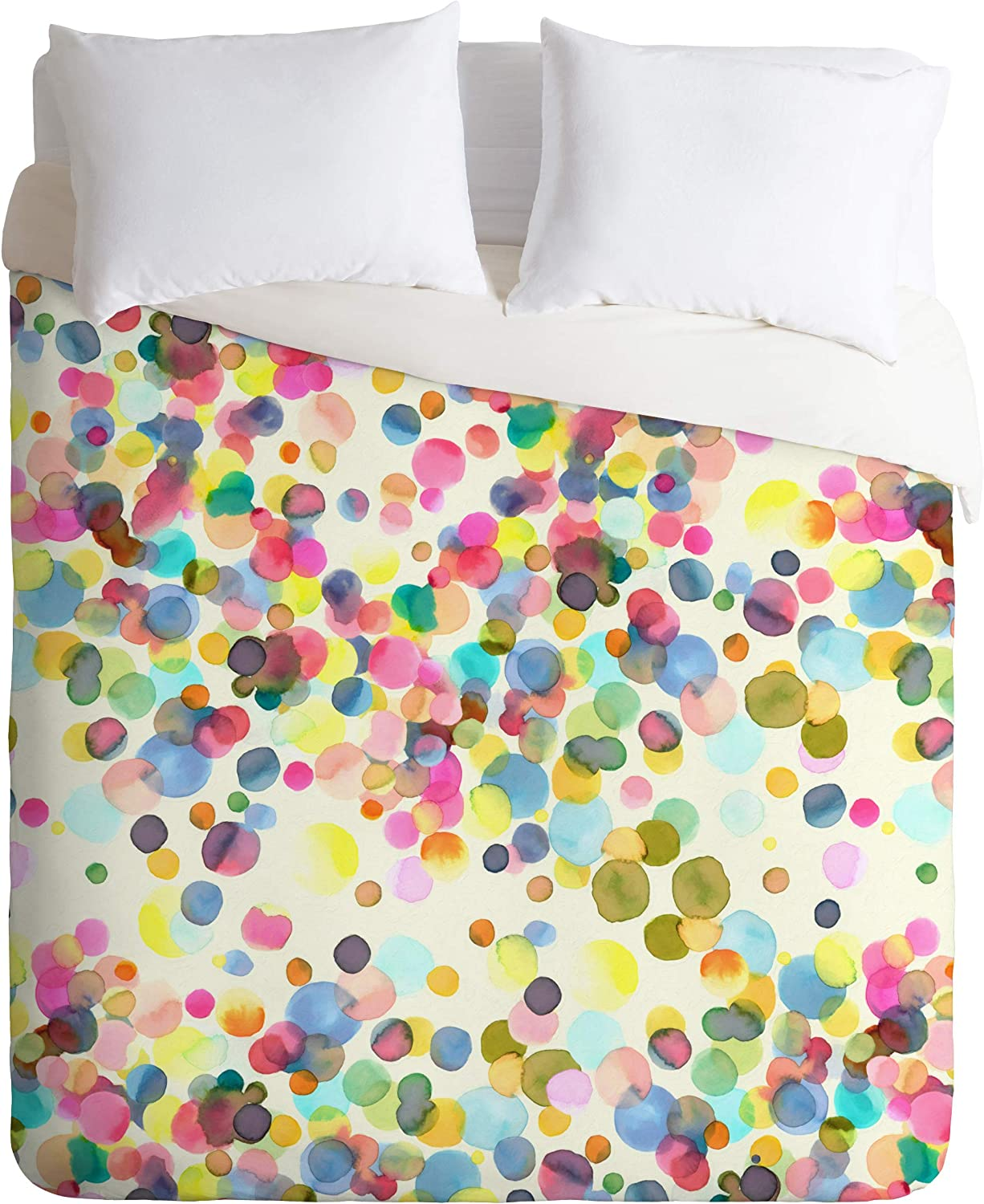 Deny Designs Ninola Designs Color Dots Watercolor Duvet Cover With Pillowcase S Twin Xl Blue Home Kitchen