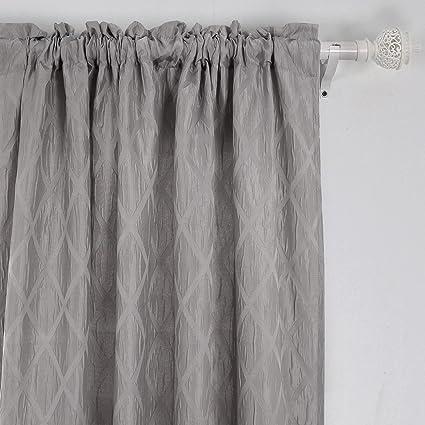 amazon com deconovo rod pocket curtains room darkening curtains rh amazon com rod pocket curtains diy rod pocket curtains definition