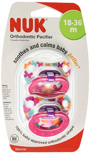 Amazon.com : Nuk Orthodontic Trendline BPA Free 18+ Months ...