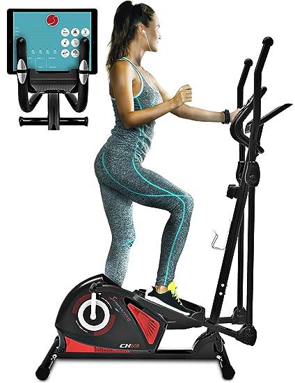 Sportstech CX608 Bicicleta elíptica Cross Trainer con aplicación para smartphone, Bluetooth