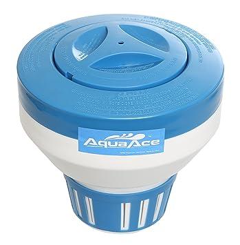 aquaace flotante Piscina dispensador cloro, Premium Floater diseño clásico, química soporte para cloro tabletas