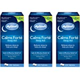 Hyland's Calms Forte' Sleep Aid Tablets, Natural Relief of Nervous Tension and Occasional Sleeplessness, 100 Quick Dissolving Tablets (Pack of 3)