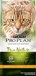 Purina Pro Plan Grain Free, Natural Dry Cat Food, TRUE NATURE Chicken & Egg Recipe - 3.2 lb. Bag