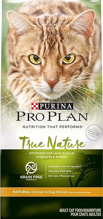 Purina Pro Plan Grain Free, Natural Dry Cat Food, TRUE NATURE Chicken & Egg Recipe - 3.2 lb. Bag