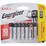 Energizer E92BP12 Max AAA 12's, (Pack of 12)