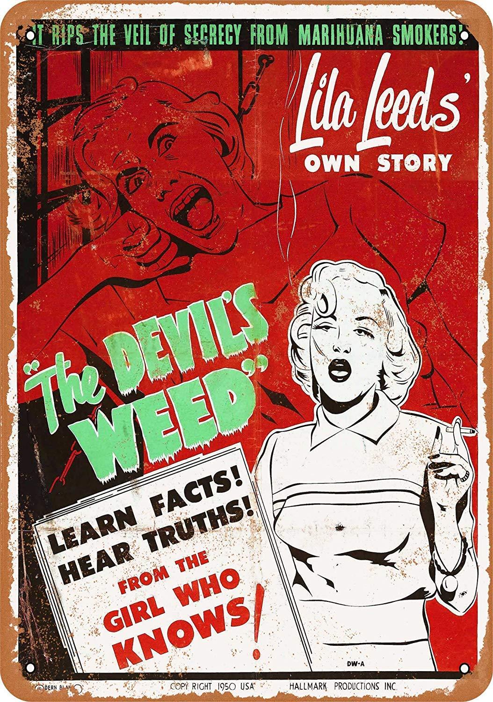 mefoll 1950 The DevilS Weed Marijuana - Letrero de Metal ...