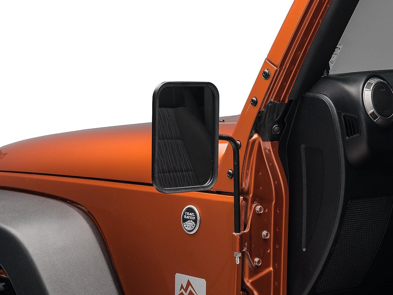 Barricade Rectangular Textured Black Adventure Mirrors JK /& JL 1987-2019 TJ Jeep Wrangler YJ Pair
