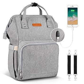 moda mam/á bolsa de beb/é de gran capacidad duradera bolsa de pa/ñales de viaje a prueba de agua para el cuidado del beb/é househome Mochila de pa/ñales