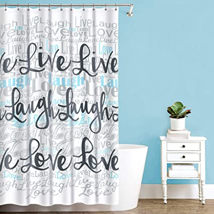 Image Unavailable Not Available For Color Splash Home Live Laugh Love Polyester Fabric Shower Curtain