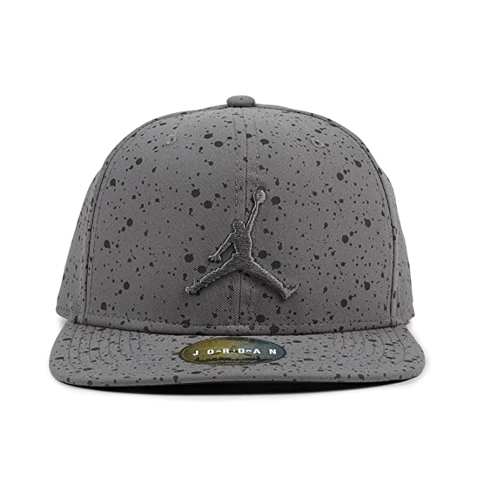 Jordan Cap - Speckle Print Snapback grey black size  Adjustable   Amazon.co.uk  Clothing ccc8911fdf5