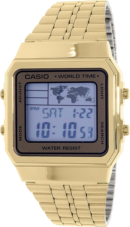 Amazon mens gold tone casio world time stainless steel watch amazon mens gold tone casio world time stainless steel watch a500wga 9 casio watches gumiabroncs Choice Image