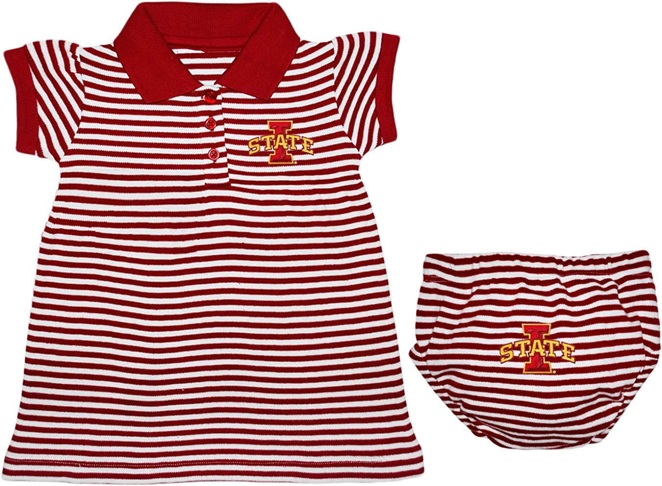 Iowa State Cyclones Striped Game Day Dress with Bloomer