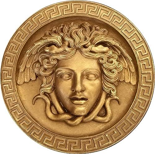 NEO-MFG History Medusa Rondanini Bust Design Gorgon Artifact Carved Sculpture Statue 8″ Gold Leaf