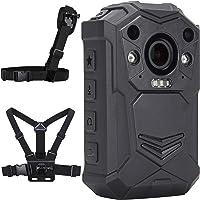 BRIFIELD BR1 Cámara Corporal - HD 1440p, Tarjeta de Memoria 128GB, visión Nocturna, GPS   Cámara portátil para Seguridad…