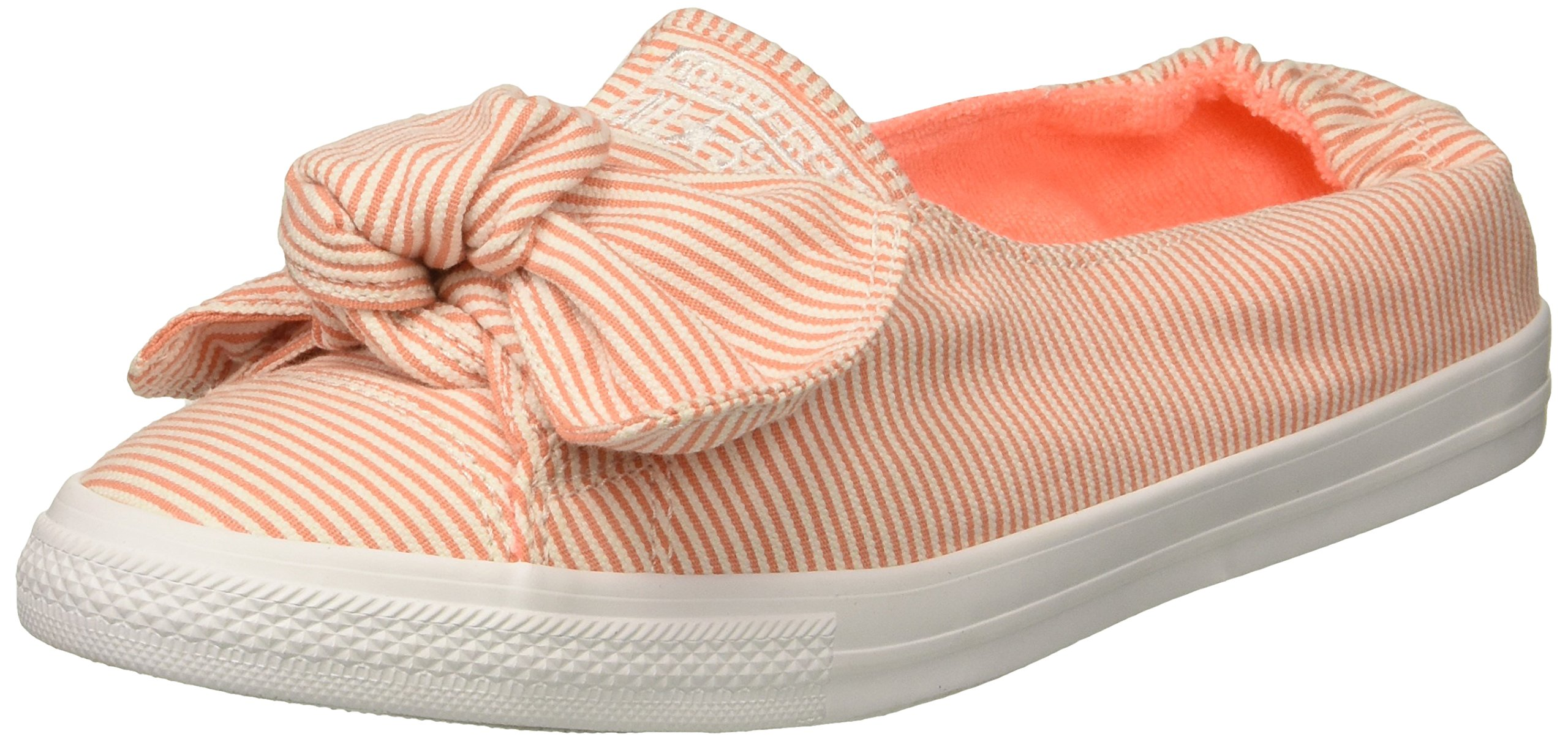 Converse Women's Knot Striped Chambray Slip on Sneaker, Crimson Pulse/White, 9.5 M US
